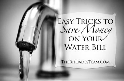 Easy Tricks to Save Money on Your Water Bill