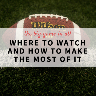 The Big Game in ATL: Where to Watch and How to Make the Most of It!
