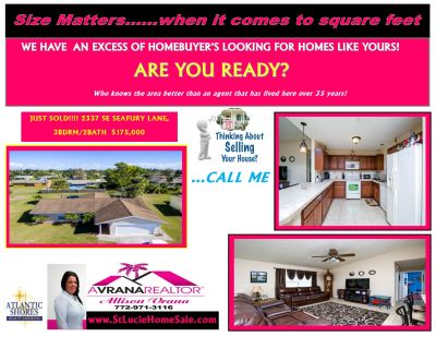 2337 SE SEAFURY LANE, PORT ST LUCIE FLORIDA HOME JUST SOLD
