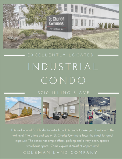 Excellently Located Industrial Condo