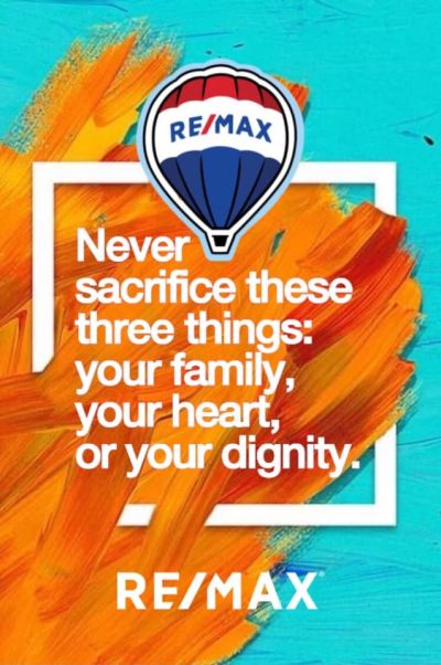 Never sacrifice these three things….
