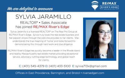 Welcome Sylvia Jaramillo, REALTOR® to RE/MAX River's Edge!
