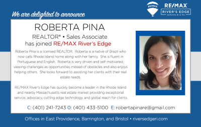 Welcoming Roberta Pina, REALTOR® RE/MAX River's Edge!