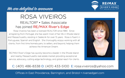 Welcome Rosa Viveiros, REALTOR® to RE/MAX River's Edge!