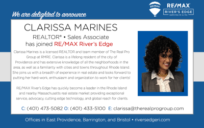 Welcoming Clarissa Marines, REALTOR® to RE/MAX River's Edge!