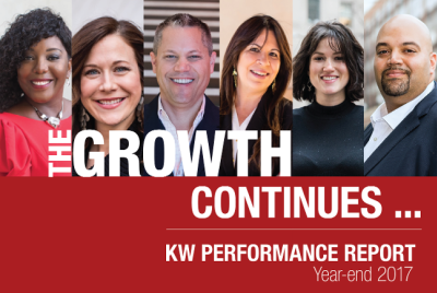KELLER WILLIAMS AGENTS MAKE HISTORIC GAINS IN 2017