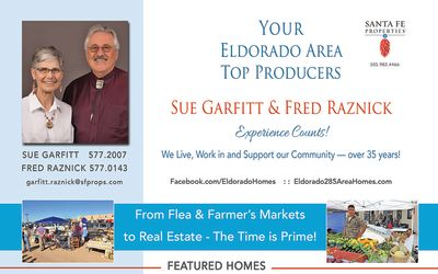 Look for our ad in the June issue of Eldorado Living