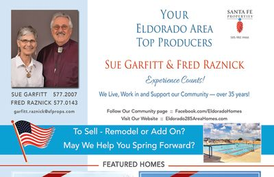 Have you seen our ad in the May issue of Eldorado Living?