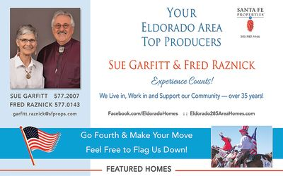 Look for our ad in the July issue of Eldorado Living