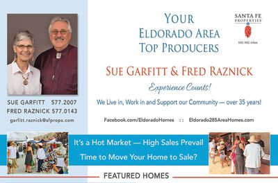 Look for our ad in the August issue of Eldorado Living