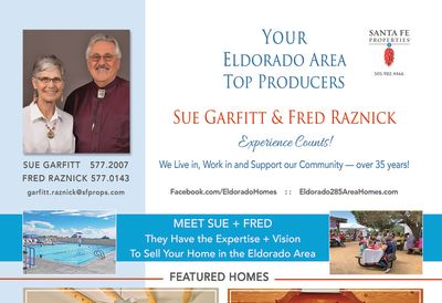 Look for our ad in the September issue of Eldorado Living