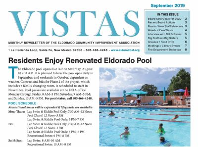 September Vistas Community Newsletter Now Available