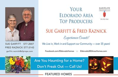 Look for our ad in the October issue of Eldorado Living