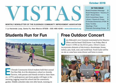 October Vistas Community Newsletter Now Available