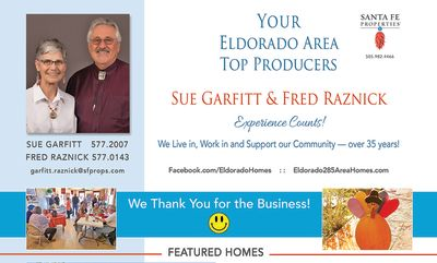 Look for our ad in the November issue of Eldorado Living