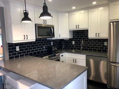 Joanna Gaines Style with a twist renovated condo
