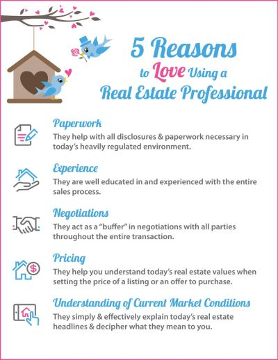 5 Reasons to Love Using A Real Estate Pro