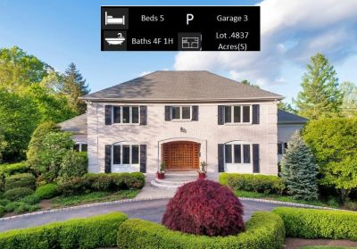 NEW PRICE! 3 Laurel Court, Short Hills NJ