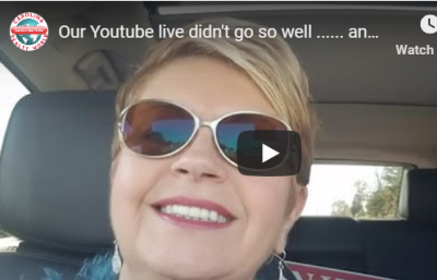 Our Youtube live didn't go so well …… and here it is anyway VLOG 157