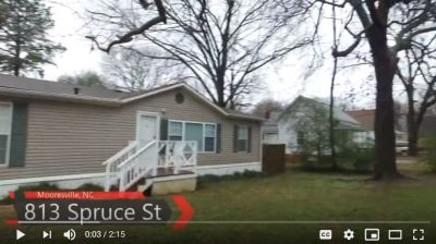 3 Bed, 2 Bath home in Mooresville for sale Low $100,000's VLOG # 159