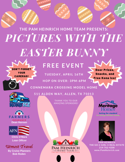 Pictures with the Easter Bunny! Tuesday, April 16th 3PM-6PM