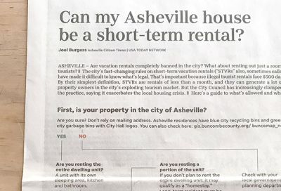 Can My Asheville House Be a Short-Term Rental?