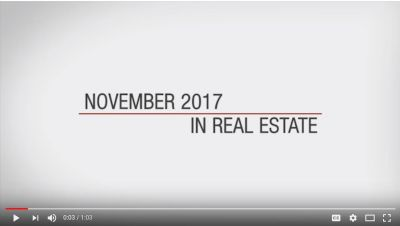 This month in real estate – November 2017