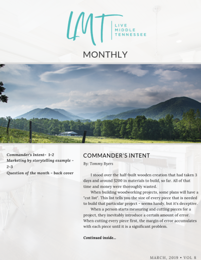 Commander's Intent – LMT MONTHLY – Mar, 2019