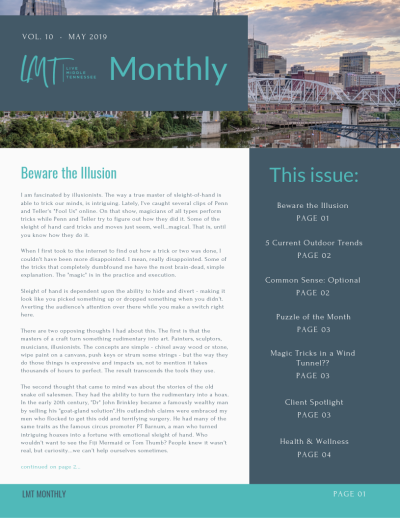 Beware the Illusion – LMT Monthly – May 2019