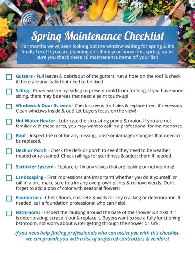 Your Home's Spring Maintenance Checklist