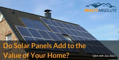 Do Solar Panels Add to the Value of Your Home?