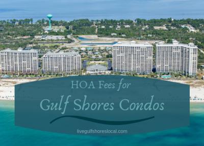 HOA Fees for Gulf Shores Condos