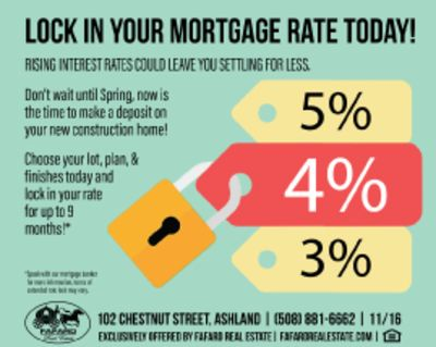 Don't wait, lock in your mortgage rate today!