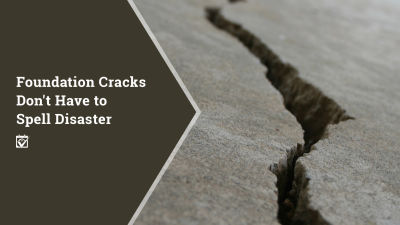 Foundation Crack?  They don't have to be diseasters