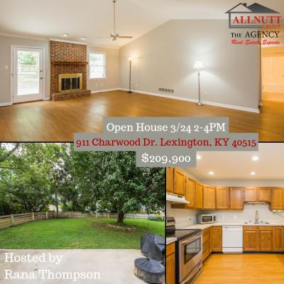 OPEN HOUSE 3/24 911 Charwood Dr. Lexington, KY 40515