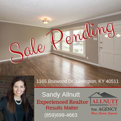 Sale Pending – 1165 Boxwood Dr. Lexington, KY 40511