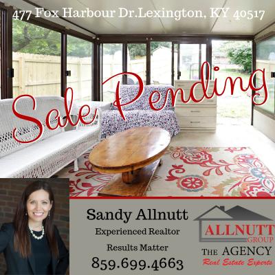 Sale Pending – 477 Fox Harbour Dr. Lexington, KY 40517