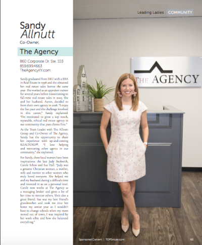Sandy Allnutt in TOPS Magazine!