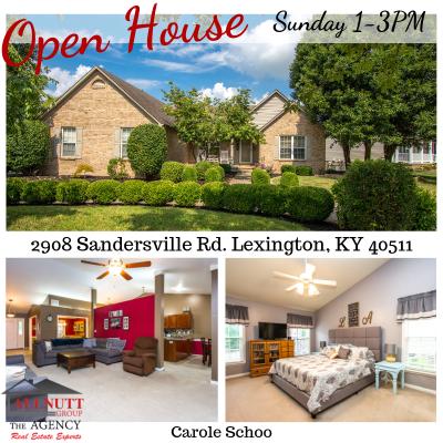 OPEN HOUSE  2908 Sandersville Rd. Lexington, KY 40511  SUNDAY 1-3PM