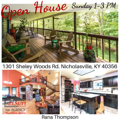 OPEN HOUSE  9/22 1-3PM  1301 Sheley Woods Rd. Nicholasville, KY 40356