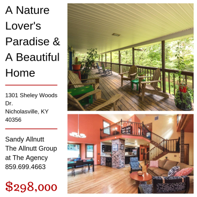 Nature Lover's Paradise! – 1301 Sheley Woods Rd. Nicholasville, KY 40356