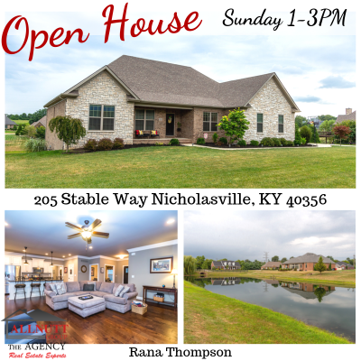 OPEN HOUSE Sunday 1-3pm 205 Stable Way Nicholasville, KY 40356