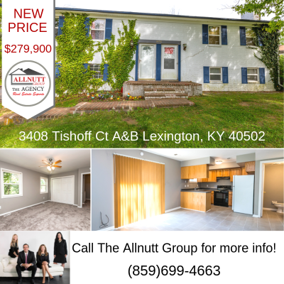 NEW PRICE $279,900 3408 Tishoff Ct. A&B Lexington, KY  40502