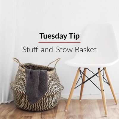 Tuesday Tip: Stuff-and-Stow Basket