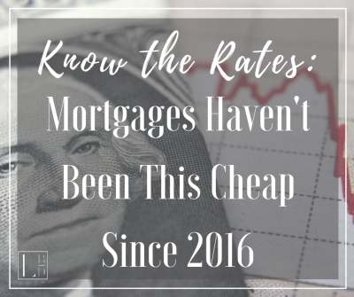 Know the Rates: Mortgages Haven't Been This Cheap Since 2016