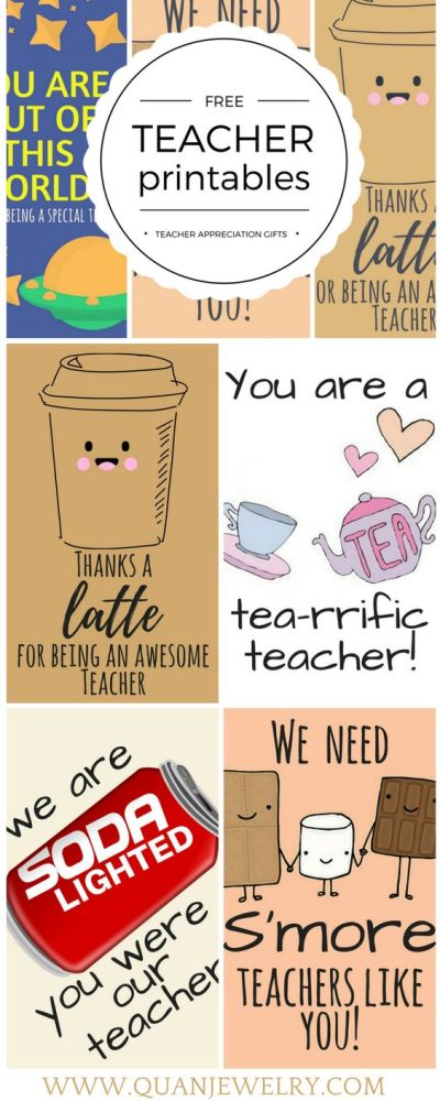 Teacher Appreciation Printable Tags