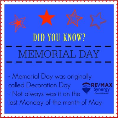 DID YOU KNOW? – Memorial Day