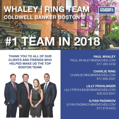 Whaley/Ring Team named Coldwell's #1 Team in Boston