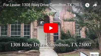 For Lease: 1308 Riley Dr Carrollton TX 75007