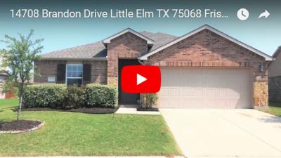 14708 Brandon Drive Little Elm TX 75068 Video Tour